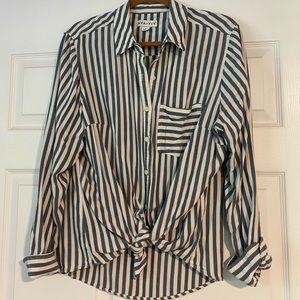 Striped Button Down Blouse!